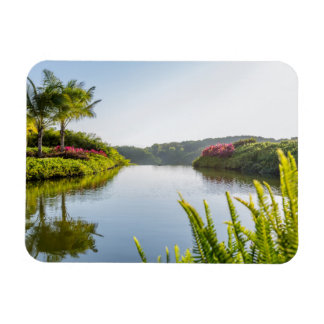Sky Reflected In Still Tropical Lake Rectangular Photo Magnet