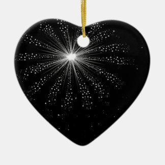 Sky Rocket Explosion Ceramic Heart Decoration