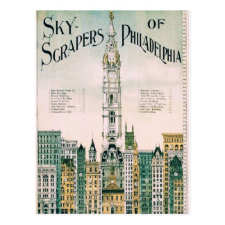 Sky Scrapers of Philadelphia Postcard