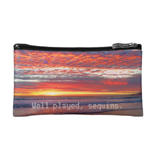 Sky Sequins Cosmetic Bag