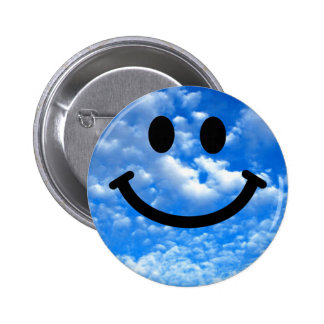 Sky Smiley 6 Cm Round Badge