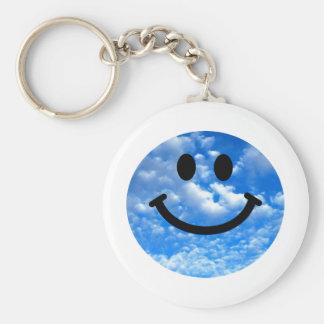 Sky Smiley Key Ring