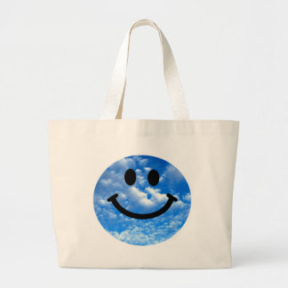Sky Smiley Large Tote Bag