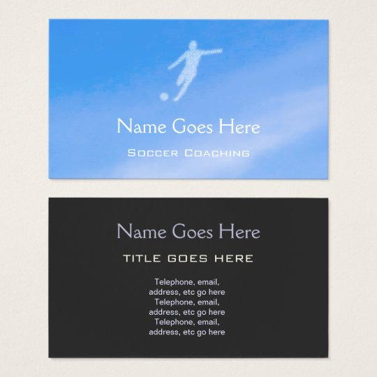 """""""Sky"""" Soccer Coaching Business Cards"""