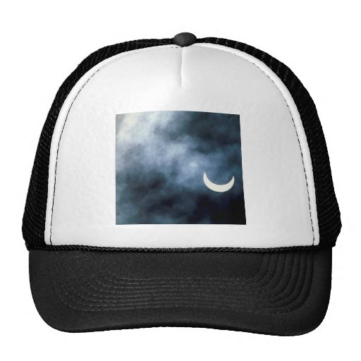 Sky Solar Eclipse Joshua Tree California Mesh Hats