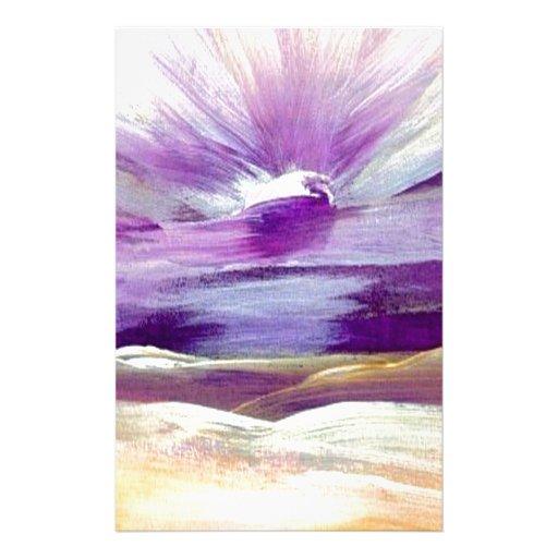 Sky Sounds Sunrise Inspiring Inspirational Art Customized Stationery