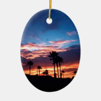 Sky Southern California Sunset Ceramic Oval Decoration
