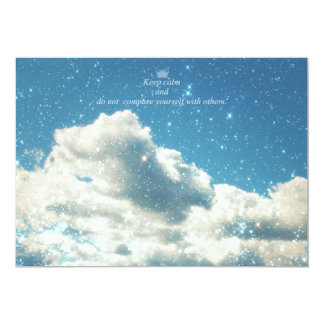 Sky Sparkles 13 Cm X 18 Cm Invitation Card