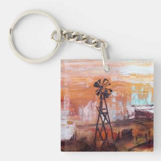 Sky Storm Single-Sided Square Acrylic Key Ring