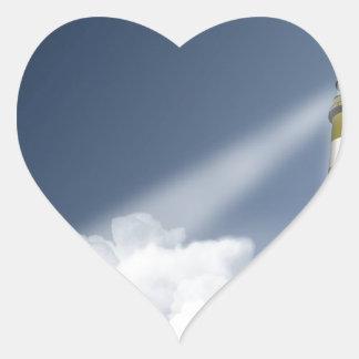 Sky Tall Lighthouse Heart Sticker