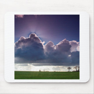 Sky Total Eclipse Rays Mouse Pads