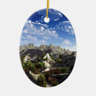 Sky Way Out West Wide Christmas Ornament