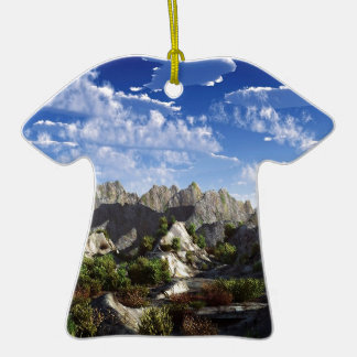 Sky Way Out West Wide Double-Sided T-Shirt Ceramic Christmas Ornament