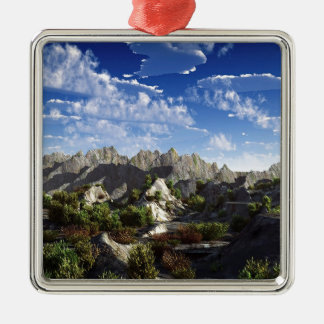 Sky Way Out West Wide Silver-Colored Square Decoration