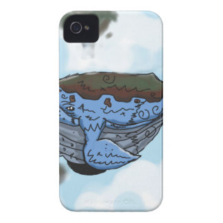 sky whale iPhone 4 Case-Mate case