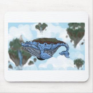 sky whale mouse mat