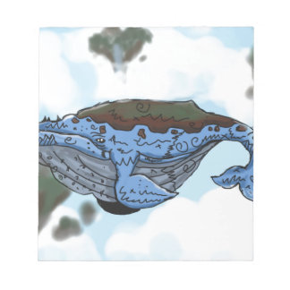 sky whale notepad