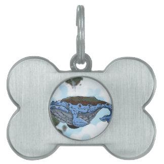 sky whale pet tag