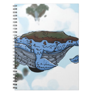sky whale spiral notebook