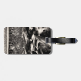 Sky Wisps over a Small Urban Forest of Trees Luggage Tag