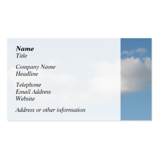 Sky with Clouds. Business Card Template