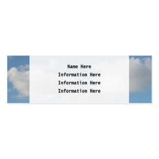 Sky with Clouds. Business Cards