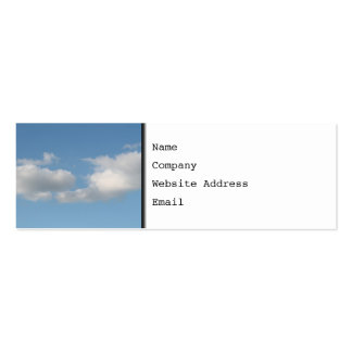 Sky with Clouds. Pack Of Skinny Business Cards