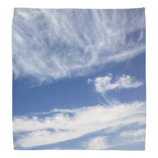 Sky with white clouds bandana