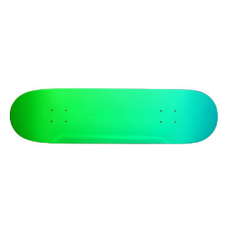 SkyBlue and green Gradient Skateboard Deck