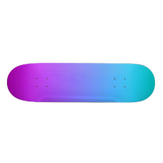 SkyBlue and Purple Gradient Skateboard Deck
