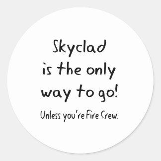 skyclad classic round sticker