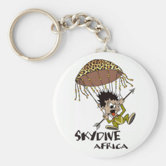 Skydive Africa Basic Round Button Key Ring