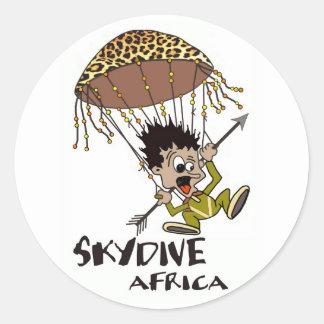 Skydive Africa Classic Round Sticker