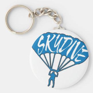 Skydive fanatic blue logo keychain