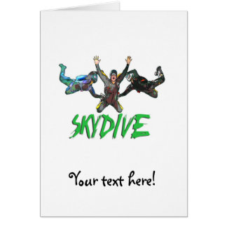 Skydive - Green Text Card