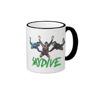 Skydive - Green Text Mugs