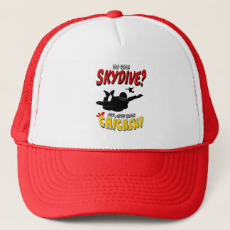 Skydive or Chicken? (blk) Trucker Hat