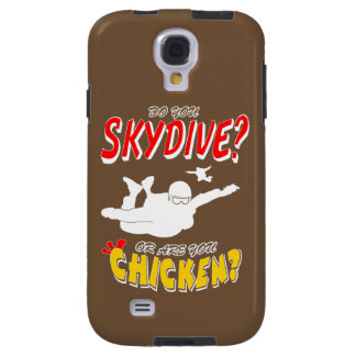 Skydive or Chicken? (wht) Galaxy S4 Case