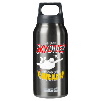 Skydive or Chicken? (wht) Insulated Water Bottle
