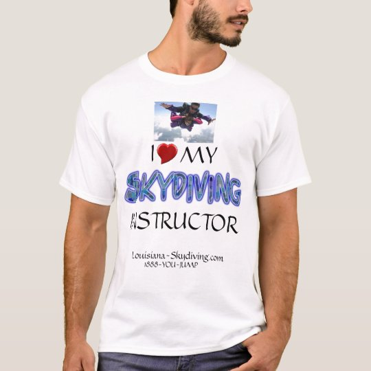 skydive parachute tandem heart instructor T-Shirt