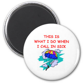 SKYDIVE.png 6 Cm Round Magnet
