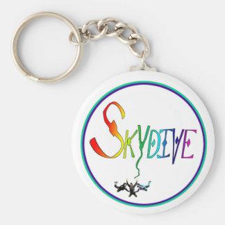 Skydive Rainbow Circle Keychains