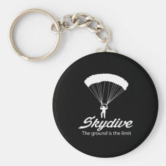 Skydive the Ground Is The Limit Basic Round Button Key Ring