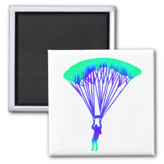 SKYDIVE THE VISION SQUARE MAGNET