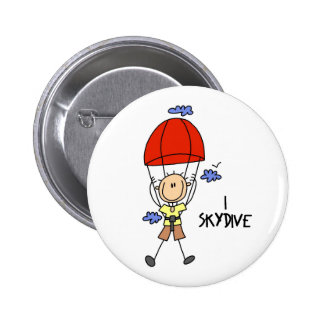 Skydiver Gift 6 Cm Round Badge