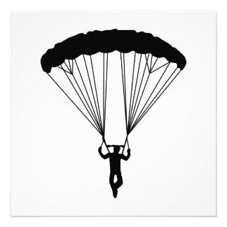 skydiver silhouette invitations