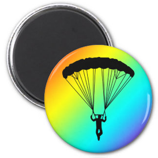 skydiver silhouette magnets