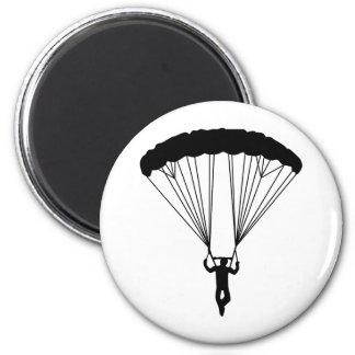 skydiver silhouette fridge magnet