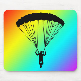 skydiver silhouette mouse mat
