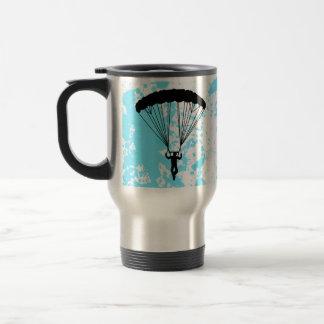 skydiver silhouette mug